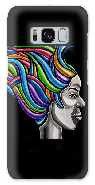 Colorful 3d Abstract Painting, Black Woman, Colorful Hair Art Artwork - African Goddess Galaxy Case