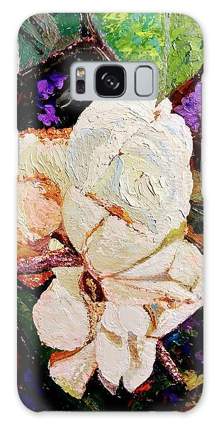 Galaxy Case featuring the painting My Impasto Flowers by Ray Khalife