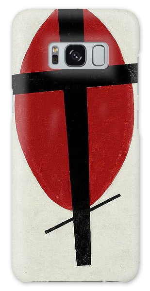 Russian Impressionism Galaxy Case - Mystic Suprematism - Black Cross On Red Oval, 1920-1922 by Kazimir Malevich