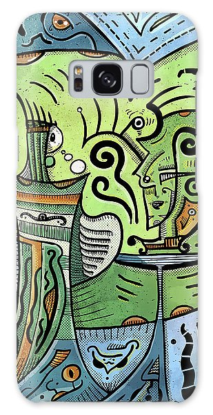 Galaxy Case featuring the painting Mystical Powers by Sotuland Art