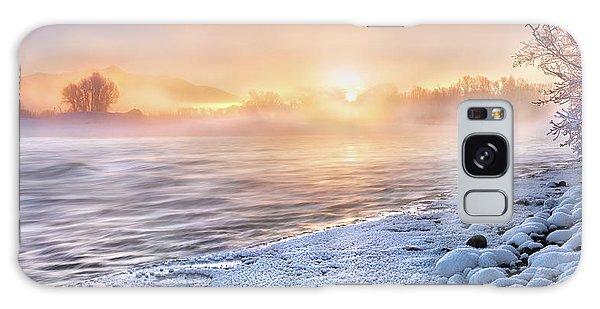 Mystical Winter Morning Galaxy Case