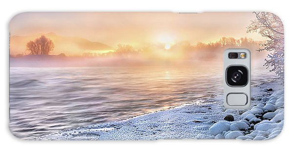 Mystical Winter Morning Galaxy Case