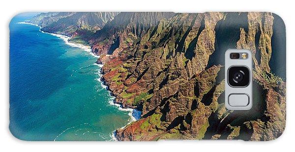 Travel Destinations Galaxy Case - Na Pali Coast, Kauai, Hawaii by Pierre Leclerc