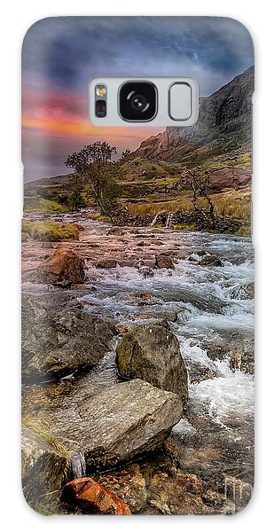 Galaxy Case - Nant Peris Pass Sunset by Adrian Evans