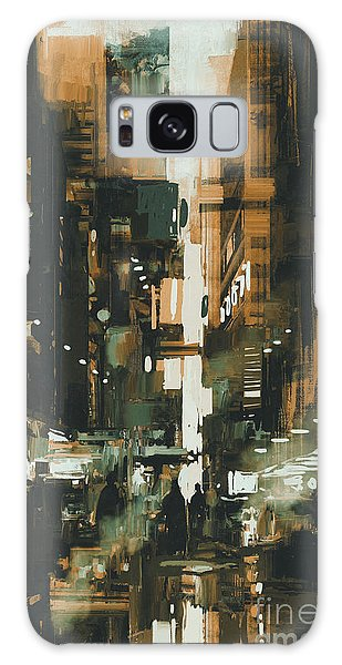 Reflections Galaxy Case - Narrow Alley In Dark City,illustration by Tithi Luadthong