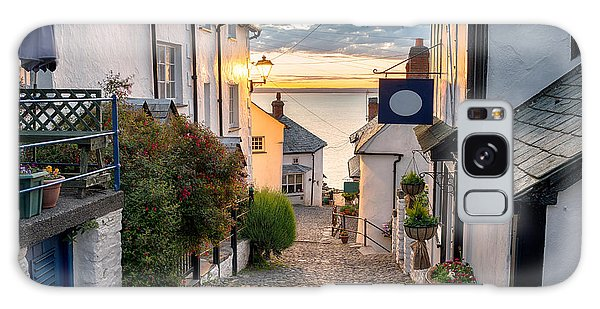 English Countryside Galaxy Case - Narrow Cobbled Streets Lined With by Helen Hotson
