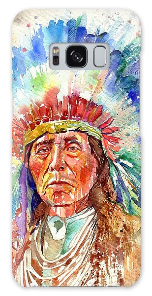 Headdress Galaxy Case - Native American Chief by Suzann Sines