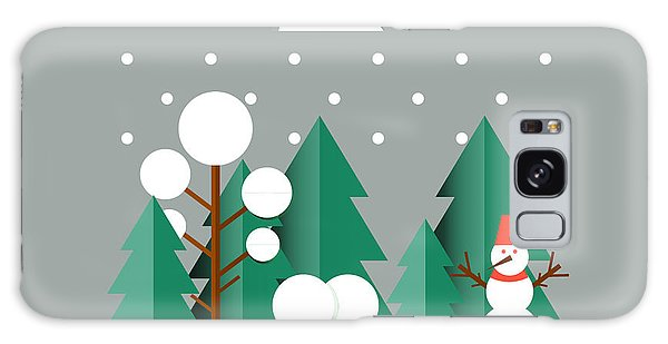 Horizontal Galaxy Case - Nature, Winter Landscape With Christmas by Oxygen 8