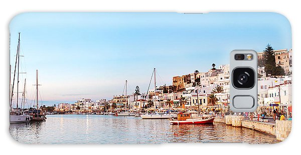 Travel Destinations Galaxy Case - Naxos Old Town After Sunset, Greece by Justin Black