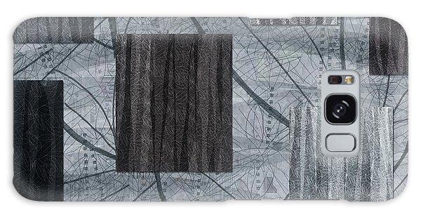 Neutral Toned Leaf Square Print Galaxy Case