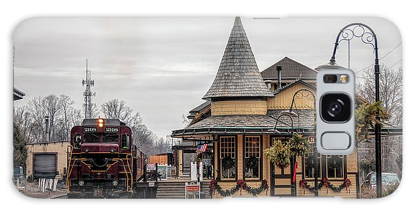 New Hope Train Station At Christmas Galaxy Case