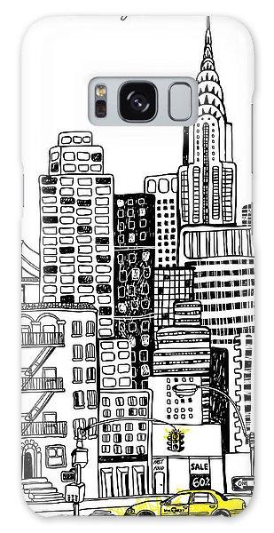 New York City Taxi Galaxy Case - New York by Artnlera