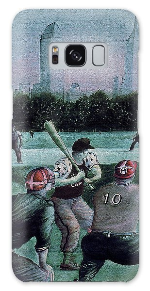 New York Central Park Baseball - Watercolor Art Painting Galaxy Case