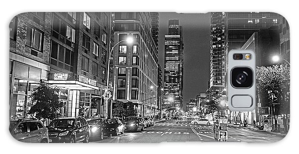 New York City Gotham West Market New York Ny Black And White Galaxy Case