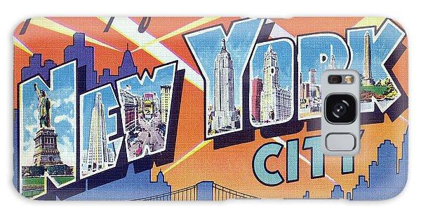New York City Greetings - Version 2 Galaxy Case