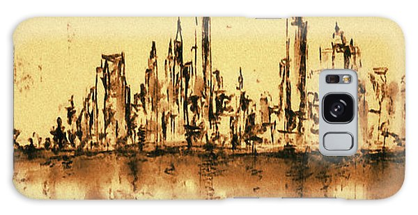 New York City Skyline 79 - Water Color Drawing Galaxy Case