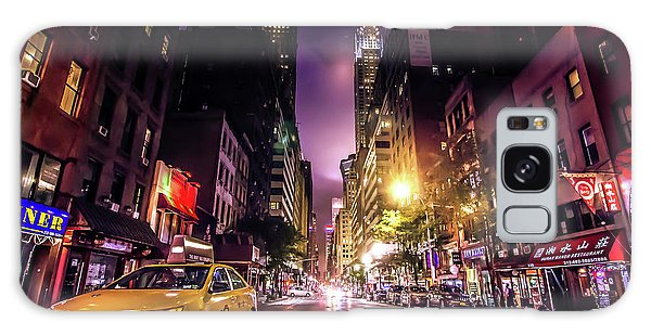 Neon Galaxy Case - New York City Street by Nicklas Gustafsson