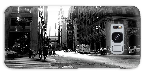 Galaxy Case featuring the photograph New York, Street by Edward Lee