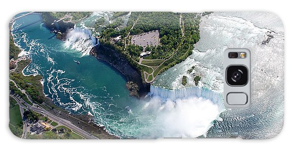 Powerful Galaxy Case - Niagara Falls American And Canadian by Jiratthitikaln Maurice