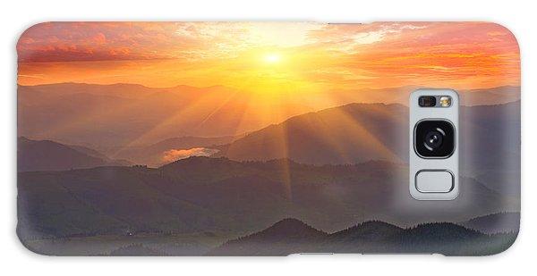 Dawn Galaxy Case - Nice Sunset Scene In Mountains by Pavel klimenko