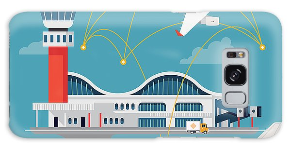 Airport Galaxy Case - Nice Vector Concept Layout On Airport by Mascha Tace