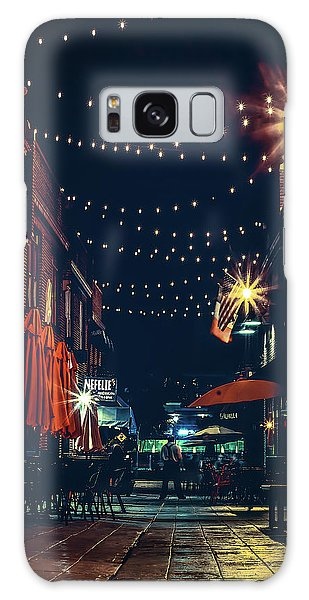 Night Dining In The City Galaxy Case