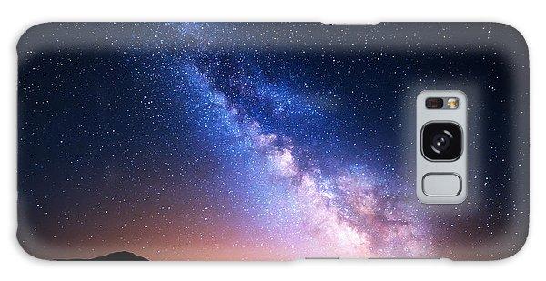 Scenery Galaxy Case - Night Landscape With Colorful Milky Way by Denis Belitsky
