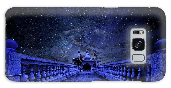 Night Sky Over The Temple Galaxy Case