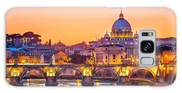 Dusk Galaxy Case - Night View At St. Peters Cathedral In by S.borisov