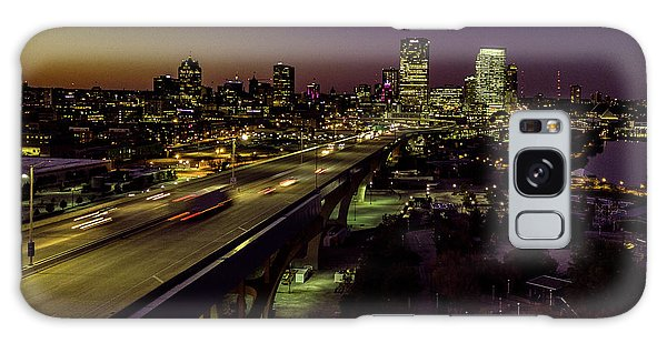 Galaxy Case featuring the photograph Nightfall In Milwaukee by Randy Scherkenbach