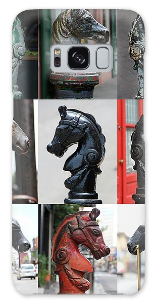 Nine Horse Head Hitching Posts Galaxy Case