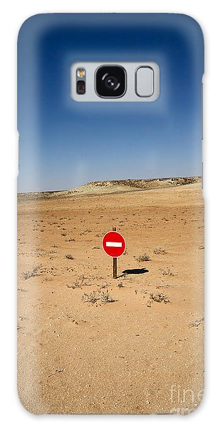 Plane Galaxy Case - No-entry Sign In The Desert by Johan Swanepoel