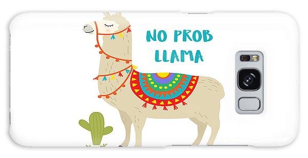No Prob Llama - Baby Room Nursery Art Poster Print Galaxy Case