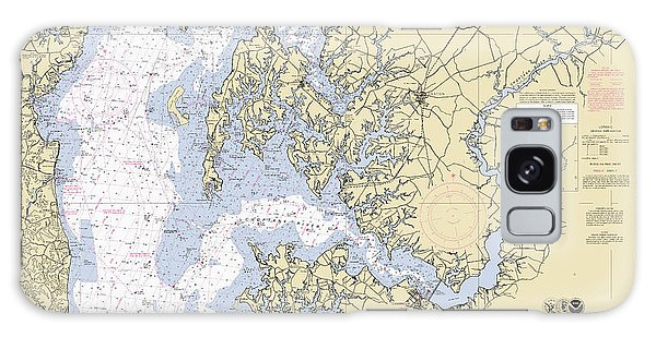 Chesapeake Bay, Cove Point To Sandy Point Nautical Chart Galaxy Case