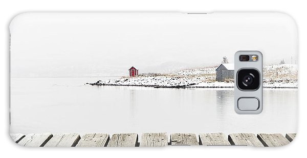 Cottage Galaxy Case - Norway Cottage On Winter Coast With by Michal Bellan
