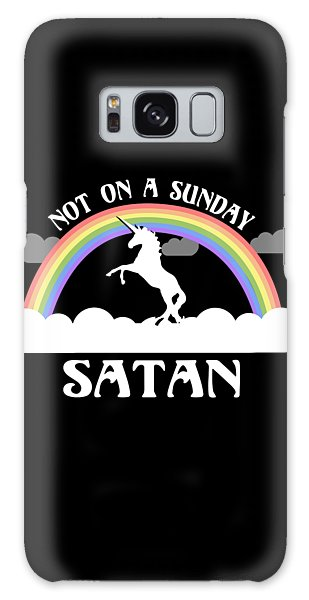 Not On A Sunday Satan Galaxy Case