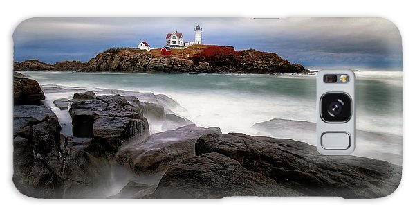 Galaxy Case featuring the photograph  Nubble Lighthouse, York Me. by Michael Hubley