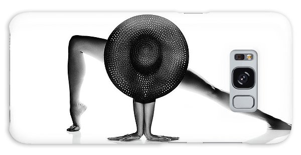 Erotic Galaxy Case - Nude Woman Black Hat by Johan Swanepoel