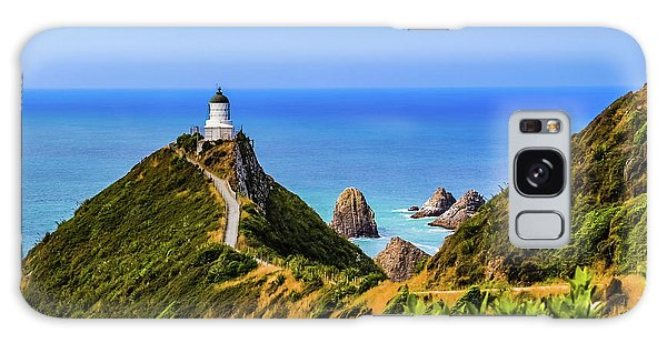 Nugget Point Lighthouse, New Zealand Galaxy Case