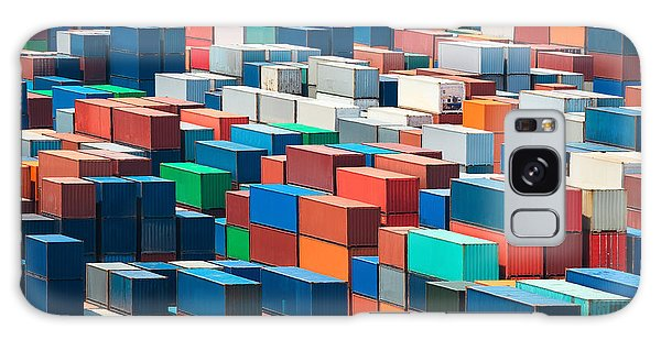 Shipping Galaxy Case - Numerous Shipping Containers In Port by Chuyuss