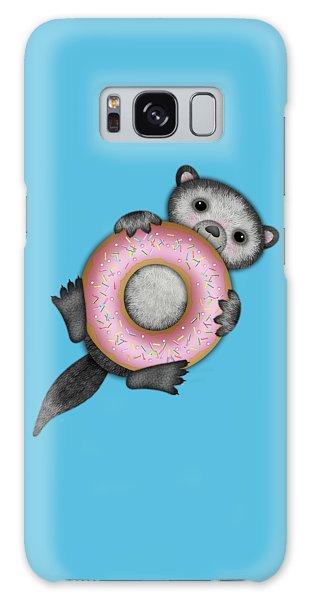 O Is For Otter With An O So Delicious Doughnut Galaxy Case