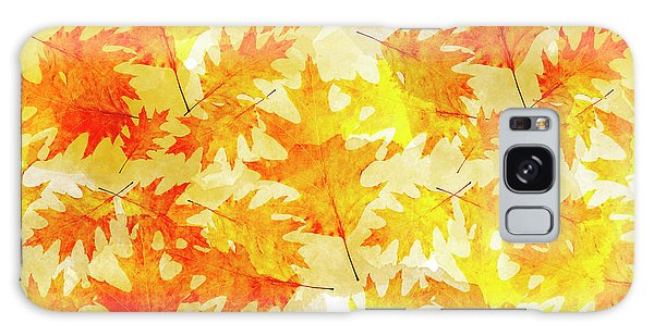 Fall Galaxy Case - Oak Leaf Pattern by Christina Rollo