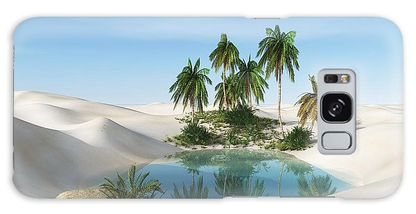 Reflections Galaxy Case - Oasis In The Desert. Palm Trees And by Ustas7777777