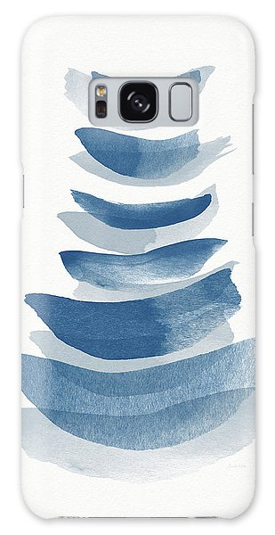 Galaxy Case featuring the mixed media Ocean Zen 2 - Art By Linda Woods by Linda Woods