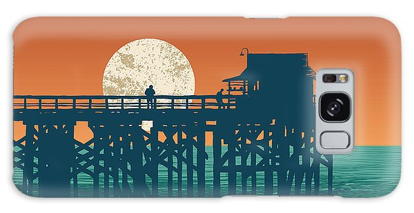Event Galaxy Case - Oceanic View With Silhouette Pier And by Jumpingsack