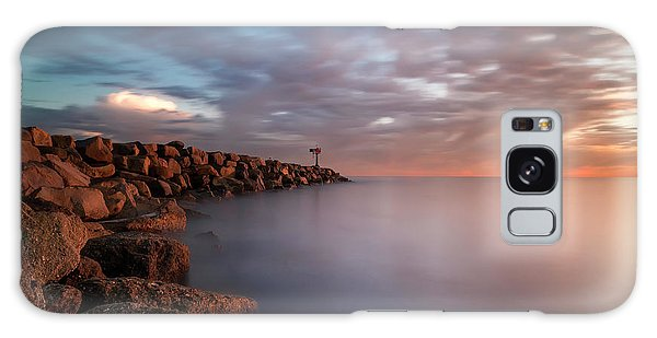 Long Exposure Galaxy Case - Oceanside Jetty by Larry Marshall