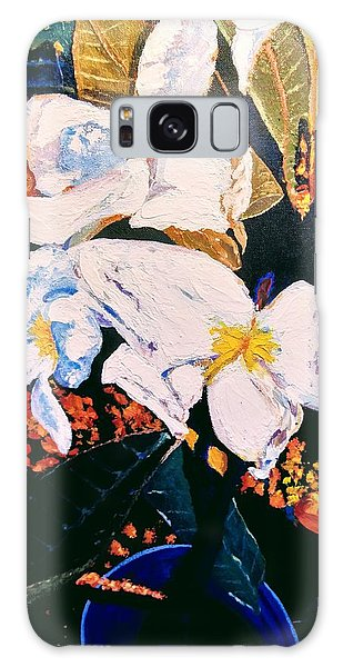 Galaxy Case featuring the painting Odd Shape Flowers by Ray Khalife