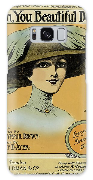 Beautiful Girl Galaxy Case - Oh, You Beautiful Doll  Vintage Poster by English School