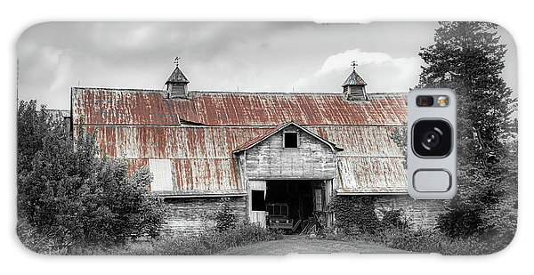 Shed Galaxy Case - Ohio Barn In Black And White by Tom Mc Nemar