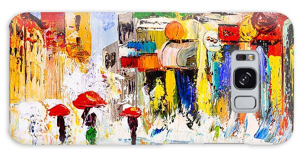 Young Galaxy Case - Oil Painting - Colorful Rainy Night by Cyc